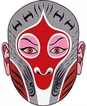 """敲笔谱子单手-在孙悟空的脸谱设计上,杨小楼把""""倒栽形""""与""""檄榄形""""结合起来,"""